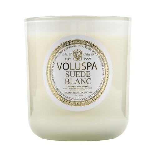 Voluspa Suede Blanc Candle - Lafayette & Rushford Home